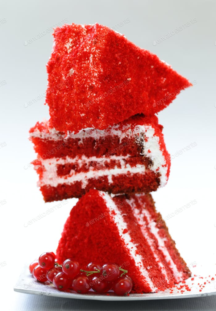 Piece of Red Velvet Cake