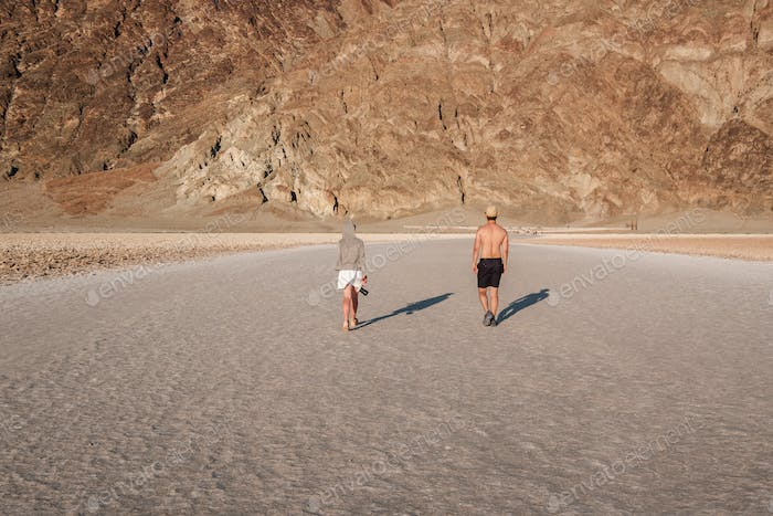 Tourists in Death Valley National Park
