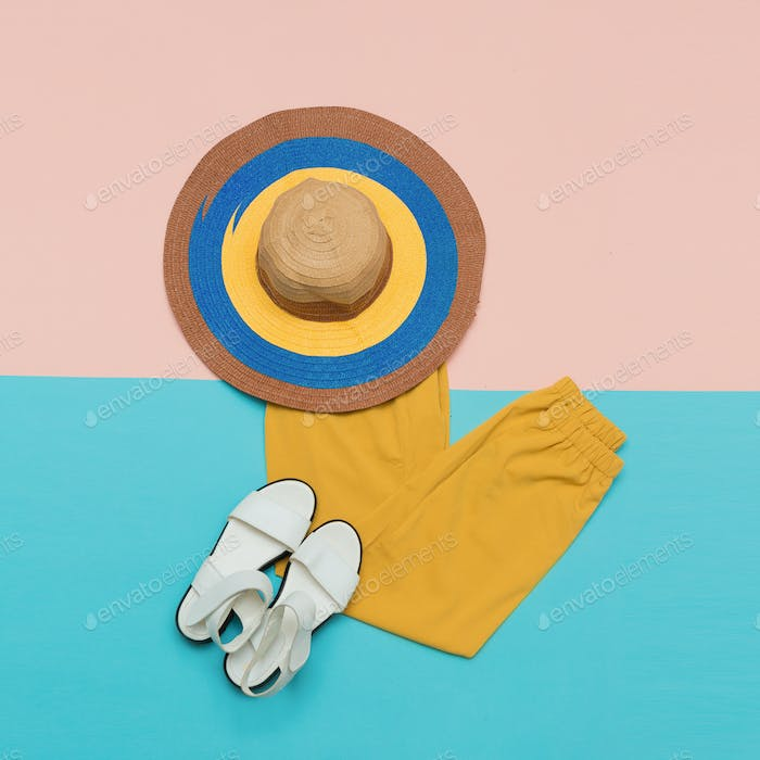 Trousers sandals Hat Summer outfit Trend