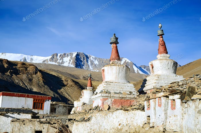 Old Buddhist chortens