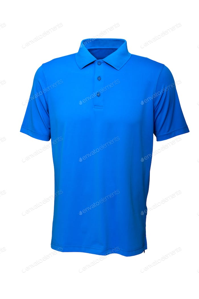 Golf  blue tee shirt for man or woman