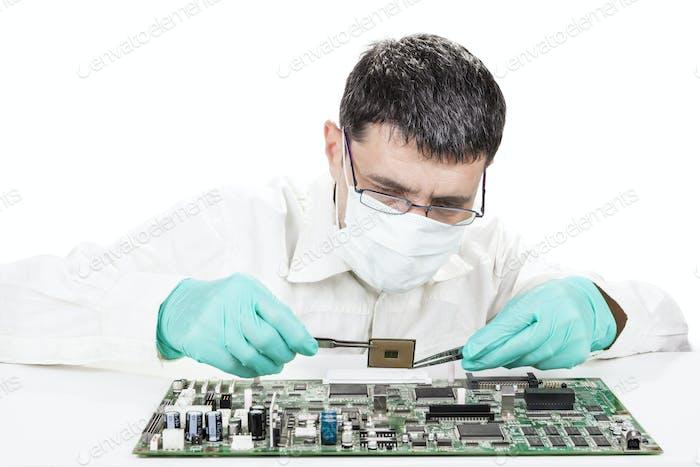 Microchip de retención