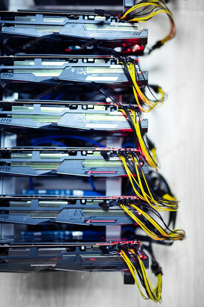 Bitcoin and cryptocurrency miner, mining computer