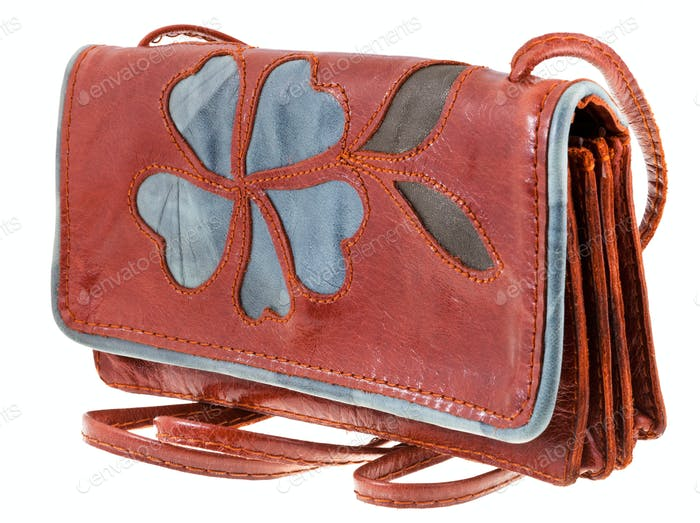small Handy leather woman bag