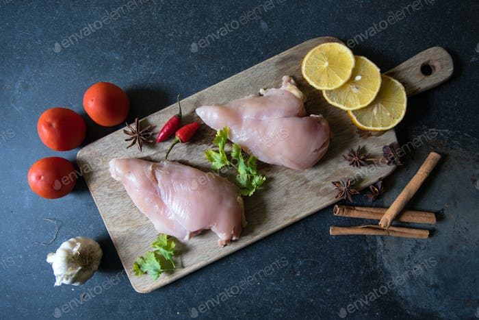 Chicken breast and spices