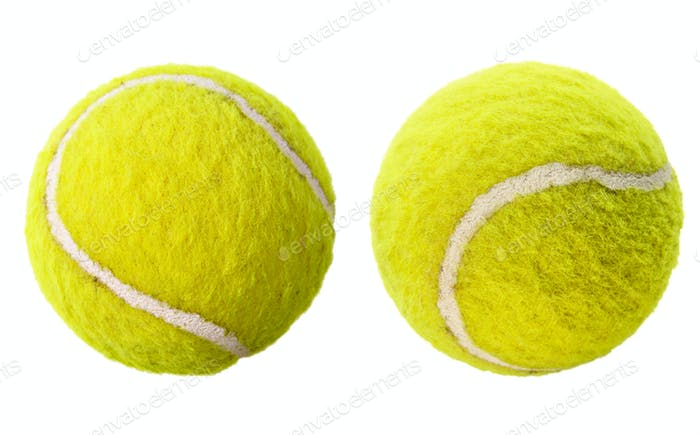 Zwei Tennisbälle isoliert