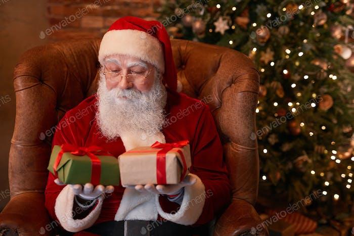 Santa Choosing Gift