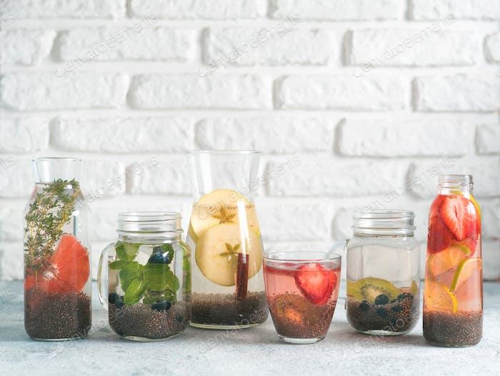 Differnet Chia Wasser im Glas, Kopierraum