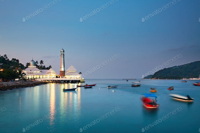 Perhentian islands at the dusk