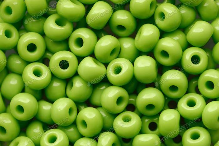 Green beads assortment