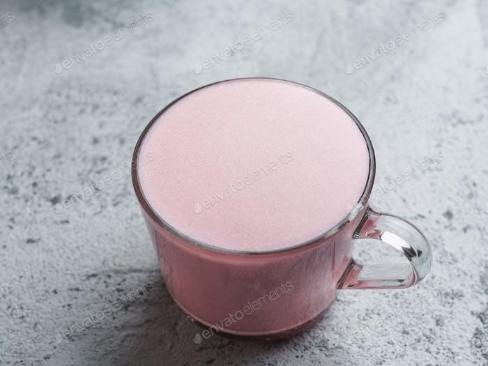 Pink beetroot latte