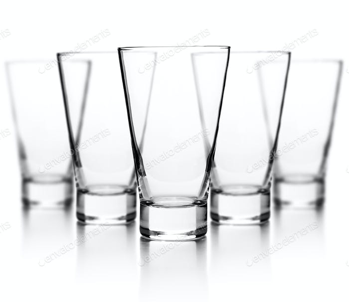 Transparent glass set