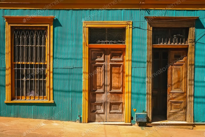 Thumbnail for Wooden doors to old tenement house in Valparaiso