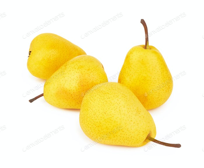 pears on white