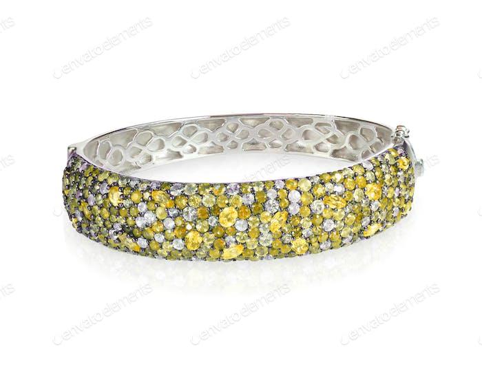 Armreif Armband gelbe Diamanten