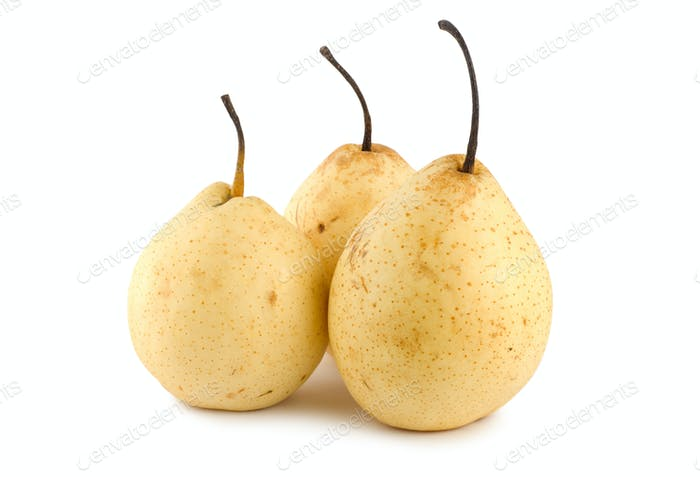 Three pears isolated