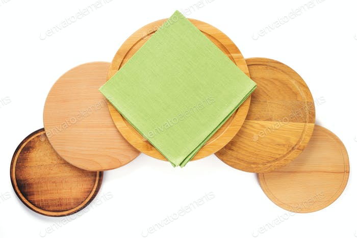 wooden pizza or bread cutting board