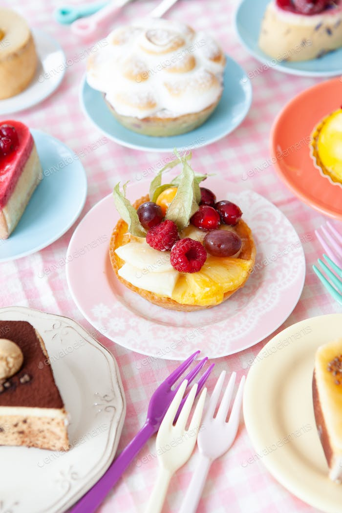 Delicious pies and cakes