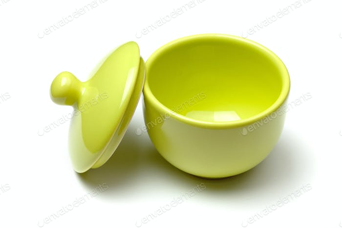 Green china soup dishware