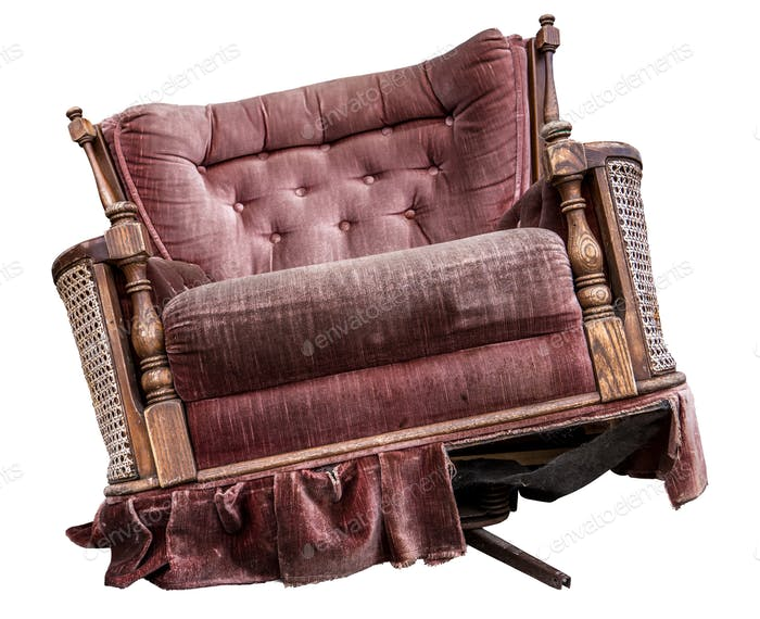 Isolated Vintage Armchair