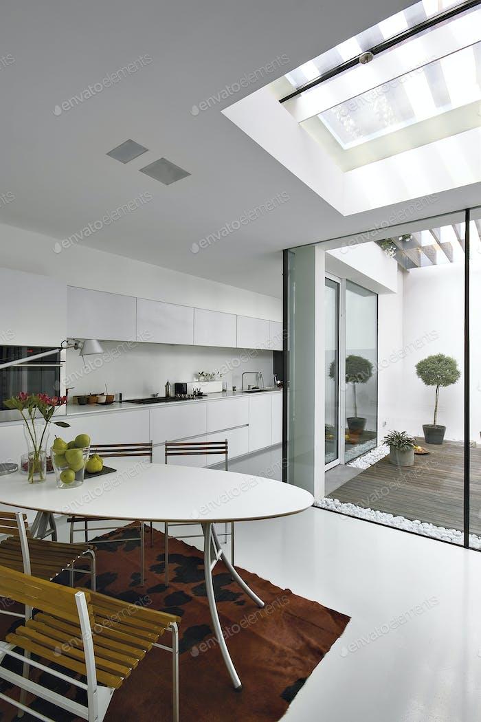 Interiors shots of a Modern Kitchen