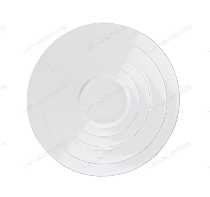 Empty plates isolated