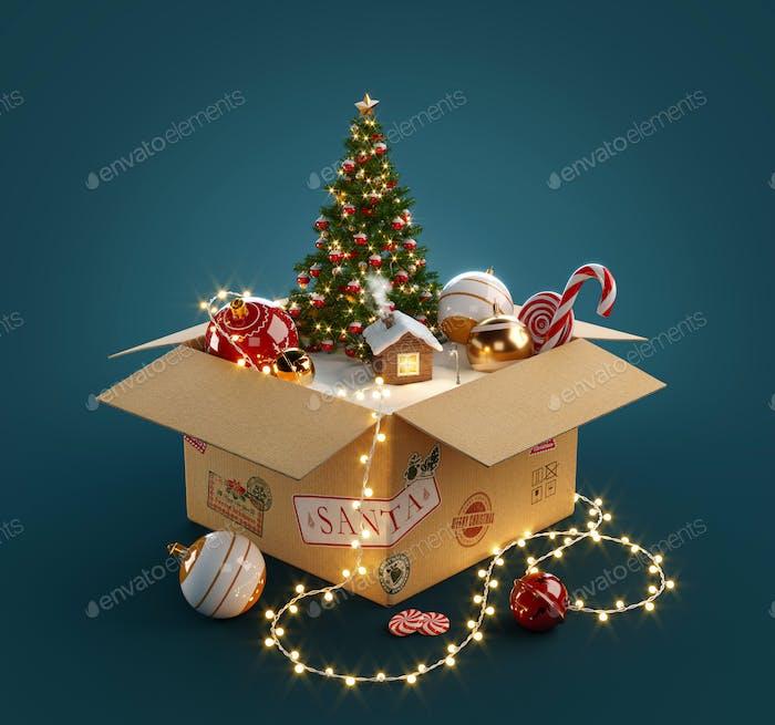 Geöffnete Geschenkbox