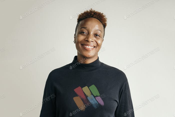Portrait of a female LGBTQ supporter