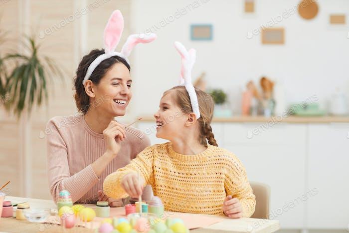 Family Enjoying Easter