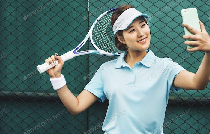 Tennis Player Training Sport Lifestyle Concept