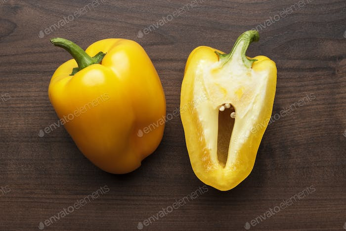 Sweet Peppers On The Table