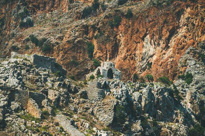 Ashes of medieval christian monastery, Alanya, Mediterranean Turkey