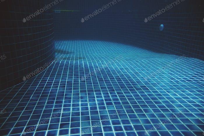 Underwater of outdoors swimming pool