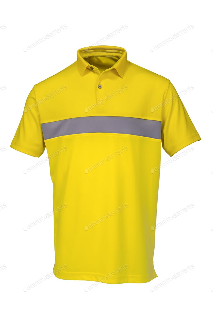 Golf teeshirt yellow color for man or woman