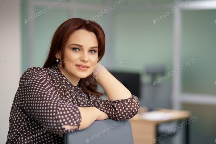 Confident Businesswoman portrait in the office