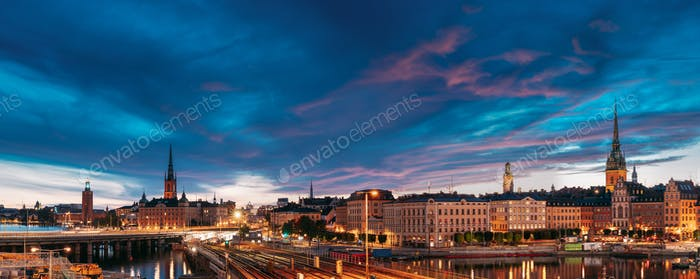 Stockholm, Sweden. Scenic Famous Panoramic View