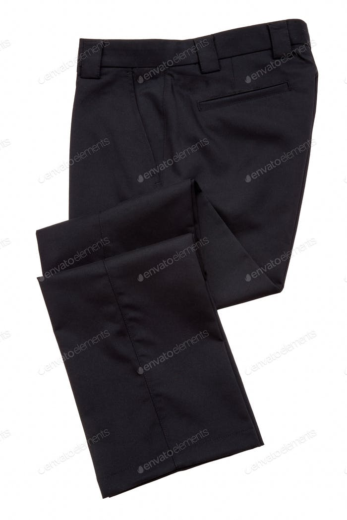 Black mens pants, trousers