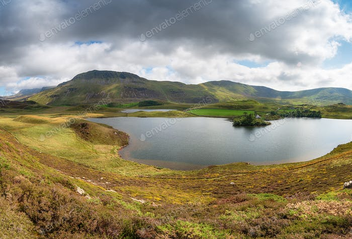 Cregennan Lakes with Cadair Idris