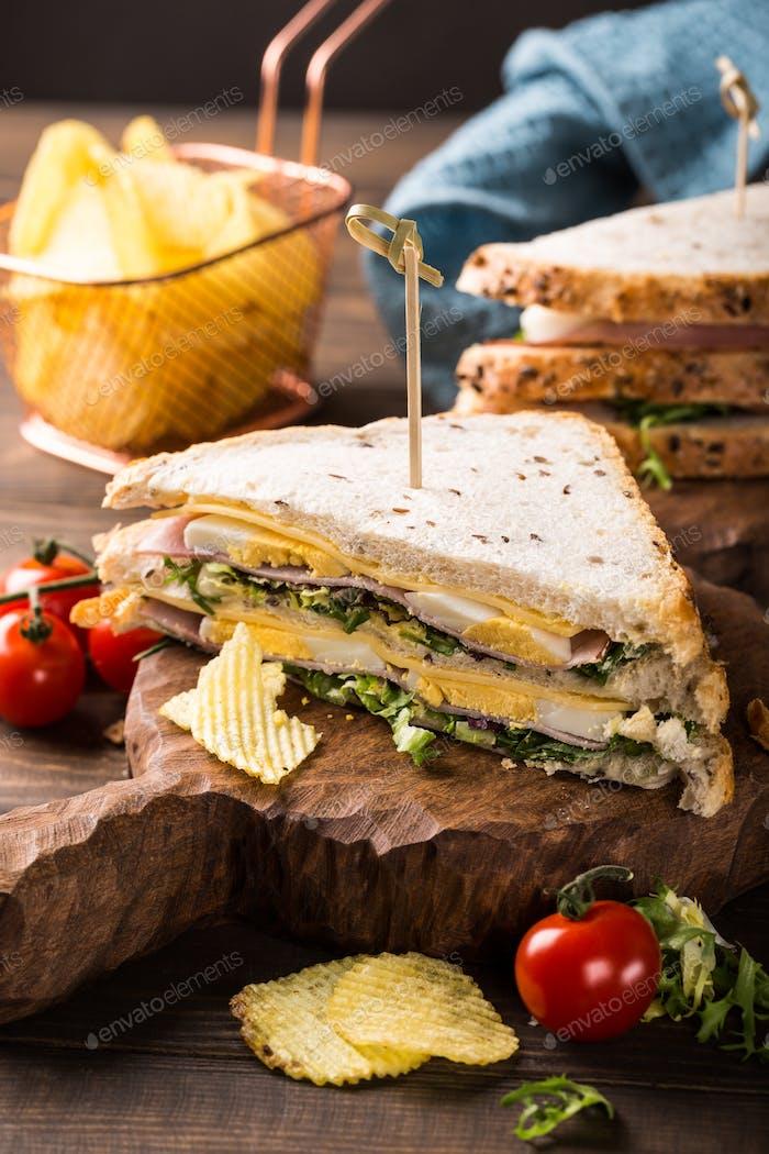 Frisches Club-Sandwich