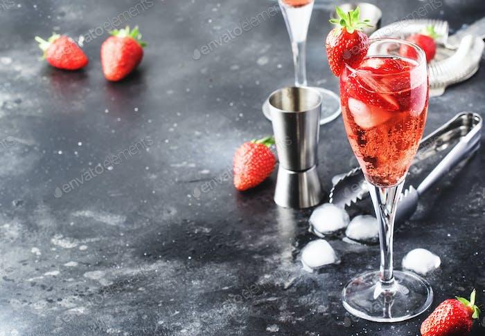 Rossini - italian alcoholic cocktail