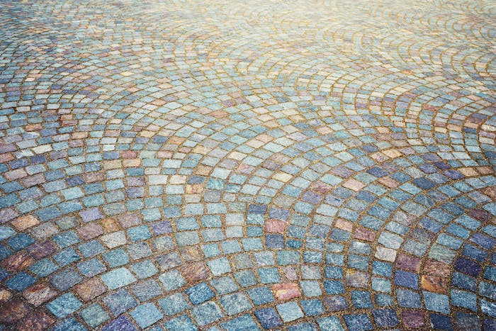 Mosaic Granite Cobblestone Pavement.