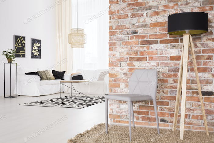 Designer chair and lamp