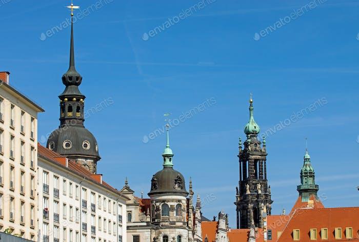 Historic skyline of Dresden