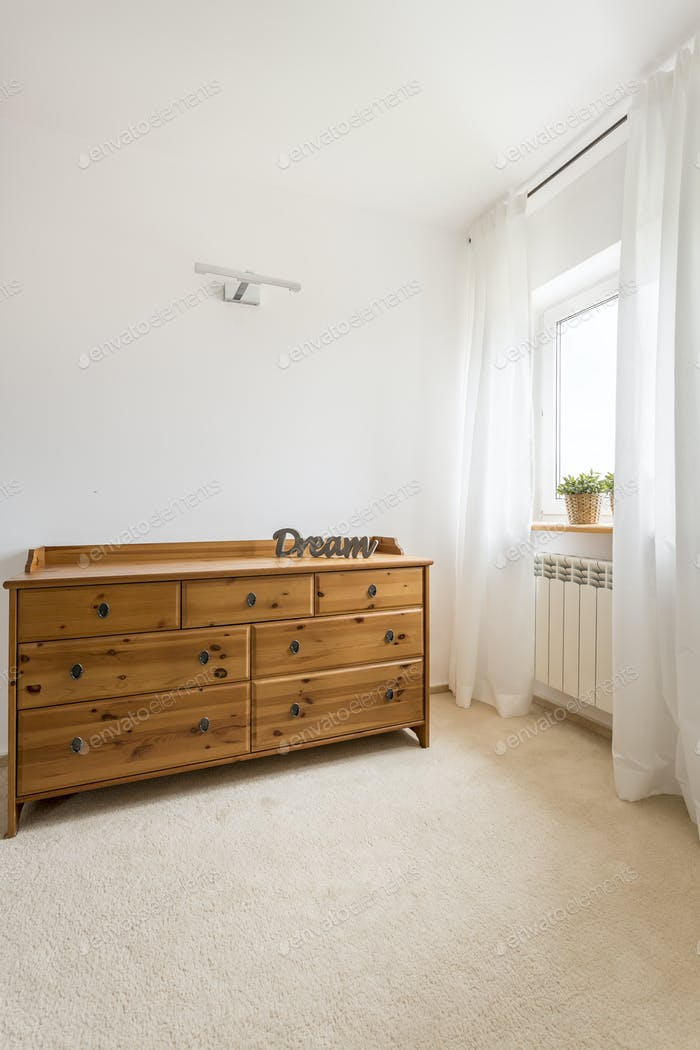 Wardrobe in a room