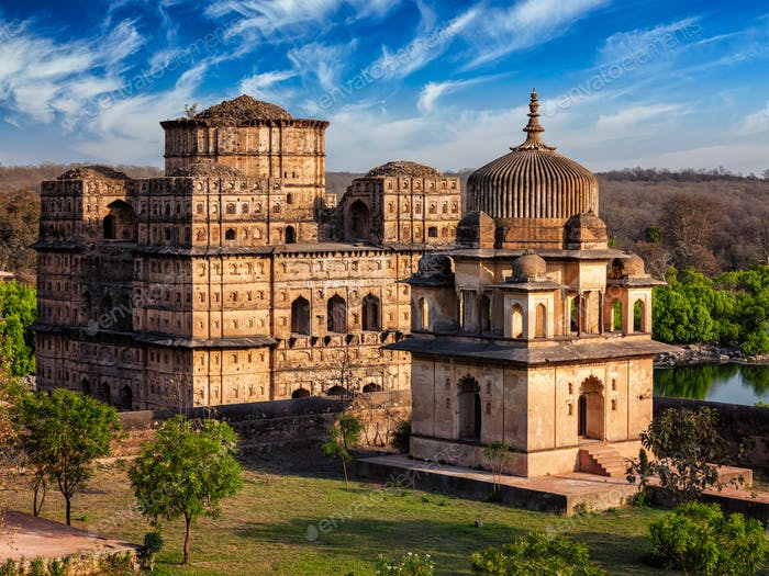 Royal cenotaphs of Orchha, India