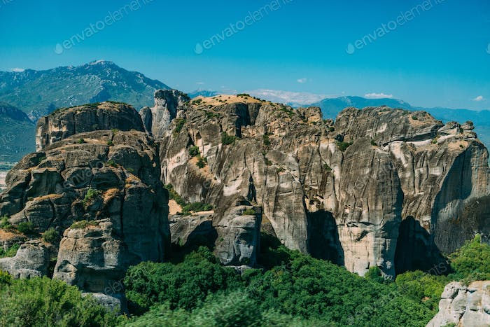Meteora limestone rocks, Greece