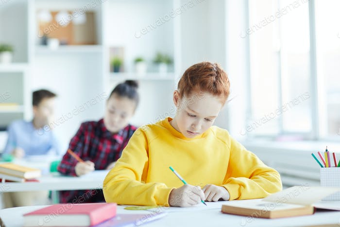 Making notes at lesson