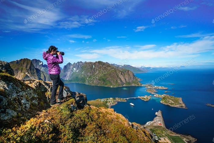 Nature photographer Norway Lofoten archipelago.