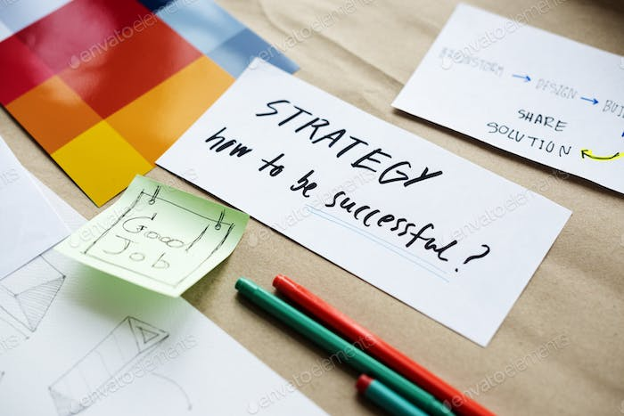 Startup Business Strategy How to Be Successful Writing on Paper