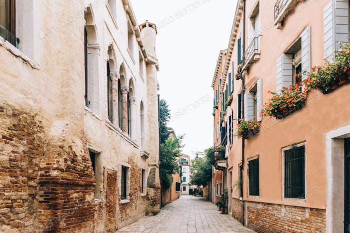 touristische Routen des alten Venedig